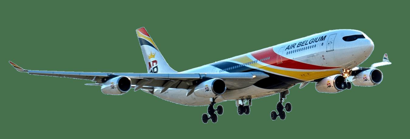 Air Belgium Plane transparent